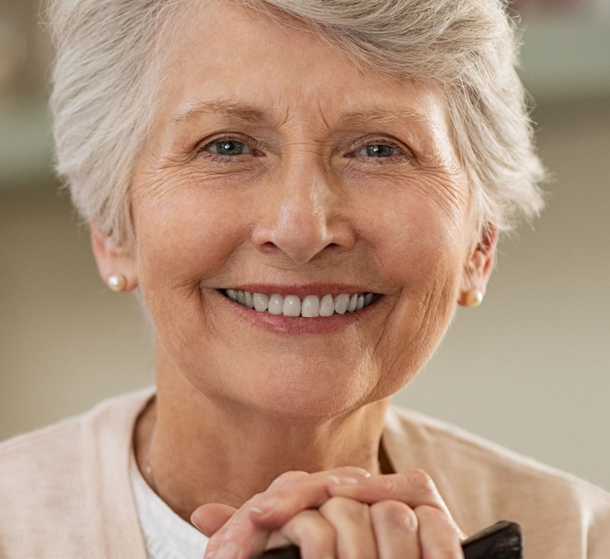 Older woman with beautiful smile